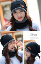 Load image into Gallery viewer, Winter Hat with Neck Warmer (Skullies & Beanies) For Men and Women - TUZZUT Qatar Online Store