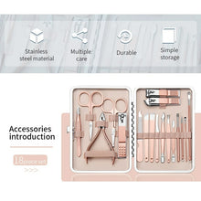Load image into Gallery viewer, 18 Pcs Professional Nail Art Manicure Tools Set - TUZZUT Qatar Online Store