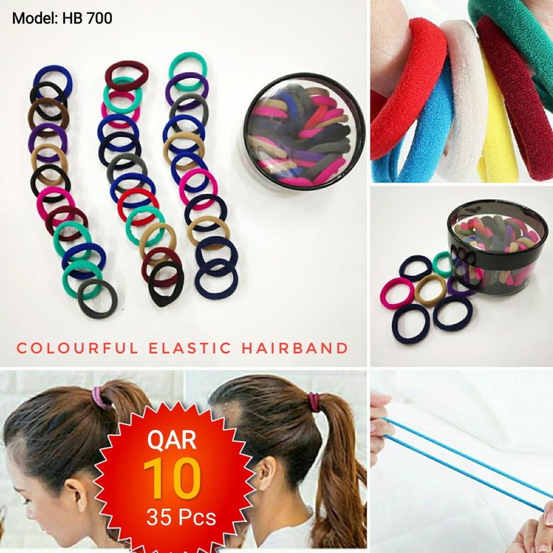 Colourful Elastic Hairbad for Girls - TUZZUT Qatar Online Store