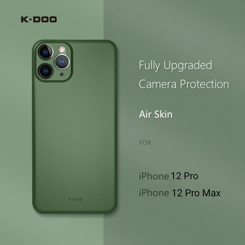 K-DOO Air Skin Ultra Slim Case for iPhone 12 Pro, Pro Max - Green - TUZZUT Qatar Online Store
