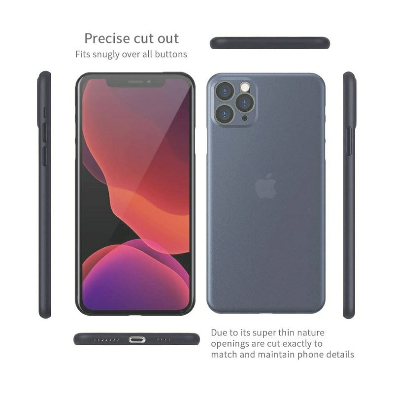 K-DOO Air Skin Ultra Slim Case for iPhone 12 Pro, Pro Max - Grey - TUZZUT Qatar Online Store