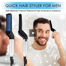 Load image into Gallery viewer, Modelling Comb - Men Beard Straightener and Quick Hair Styler Hair Comb - TUZZUT Qatar Online Store