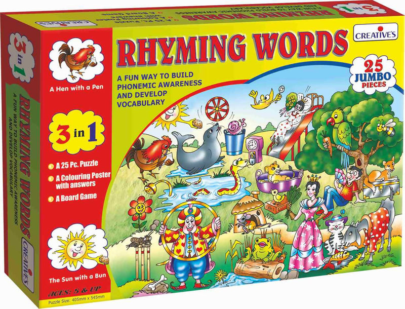 Rhyming Words- Reading Puzzles - TUZZUT Qatar Online Store