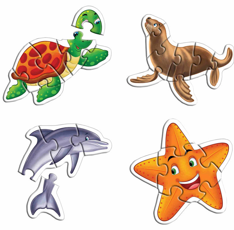 Early Puzzles Step II-Sea Animals - TUZZUT Qatar Online Store