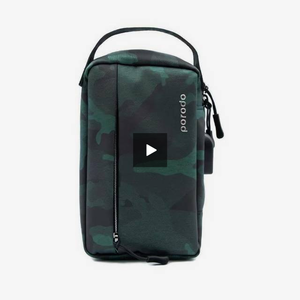 "Porodo Convenient Leather Storage Bag 8.2"" Blue Camo - IPX3 Water-Resistant - TUZZUT Qatar Online Store"