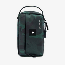 "Load image into Gallery viewer, Porodo Convenient Leather Storage Bag 8.2"" Light Green Camo - IPX3 Water-Resistant - TUZZUT Qatar Online Store"