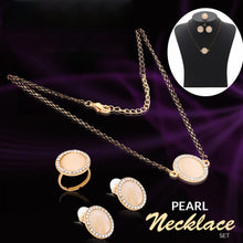 Load image into Gallery viewer, Kavani Ocean Pearl Necklace Set OK32932 Gold