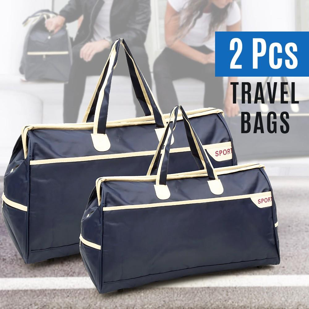 Set Of 2Pcs Travel Bags - Blue - TUZZUT Qatar Online Store