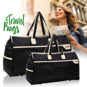 Set Of 2Pcs Travel Bags - Black - TUZZUT Qatar Online Store
