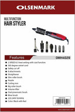 Load image into Gallery viewer, Olsenmark Hair Straightener OMH4023 + Hair Styler 8 in 1 OMH4029 (Combo Offer) - TUZZUT Qatar Online Store
