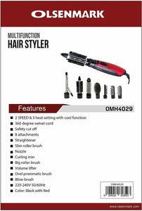 Olsenmark Hair Straightener OMH4023 + Hair Styler 8 in 1 OMH4029 (Combo Offer) - TUZZUT Qatar Online Store