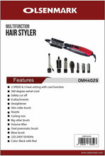 Load image into Gallery viewer, Olsenmark OMH4029 8 in 1 Multifunction Hair Styler - TUZZUT Qatar Online Store