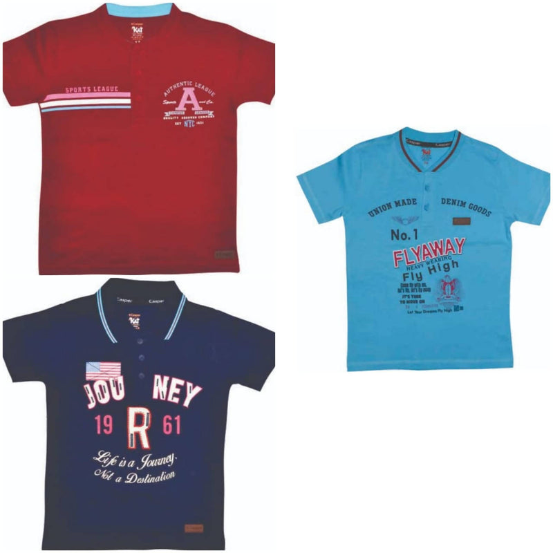 Boys Polo T-shirt pack of 3 - TUZZUT Qatar Online Store