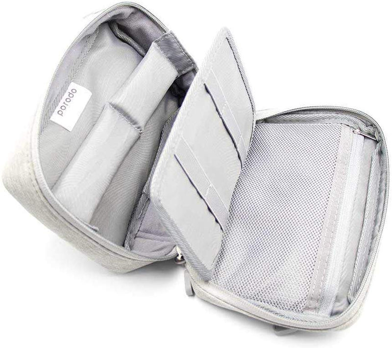 "Porodo 8.2"" Convenient Storage Bag IPX3 Water-Resistant Fabric (Without USB Port) - Gray - TUZZUT Qatar Online Store"