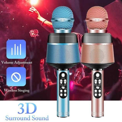 Q008 Portable Bluetooth Karaoke Wireless Microphone with Flashing Lights - 1 Pc - TUZZUT Qatar Online Store