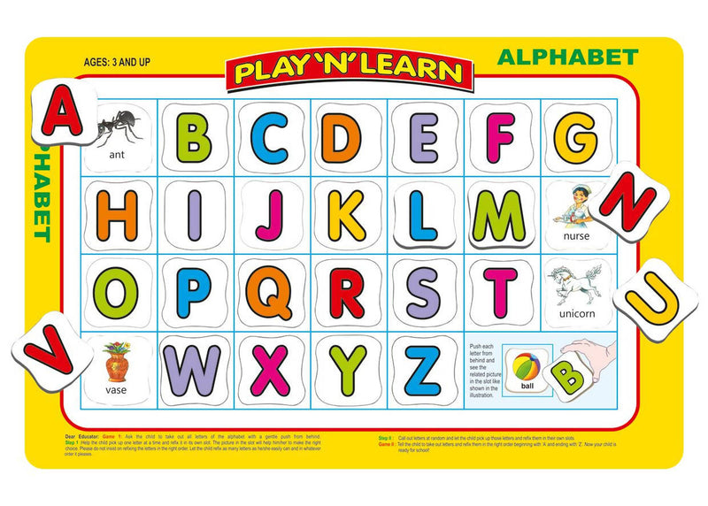 Play 'N' Learn 2 in 1- Alphabet-Upper & Lowercase - TUZZUT Qatar Online Store