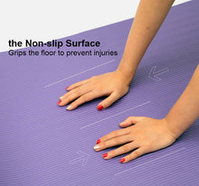 Load image into Gallery viewer, 10mm Yoga Mat Soft Non-Slip Exercise Pad with Free Carry bag - TUZZUT Qatar Online Store