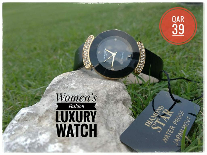 Diamond Star Luxury Fashion Watch for Women - DS102 - TUZZUT Qatar Online Store