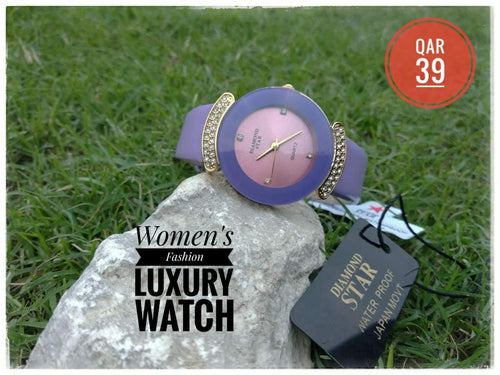 Diamond Star Luxury Fashion Watch for Women - DS101 - TUZZUT Qatar Online Store