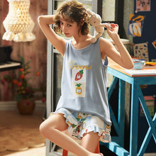 Load image into Gallery viewer, Women's Short Sleeve Pajamas Sleepwear - T2358A - TUZZUT Qatar Online Store