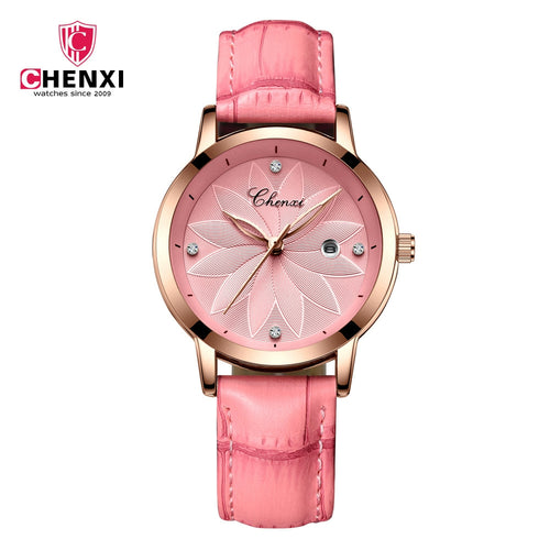 Chenxi Fashion Designer Ladies Luxury Leather Strap Watches CX-303L - TUZZUT Qatar Online Store
