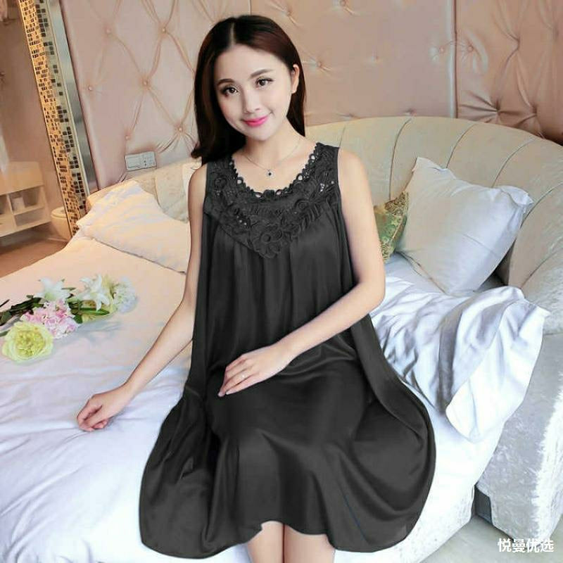 Women's Night Dress Sleepwear Z79 - Black - TUZZUT Qatar Online Store