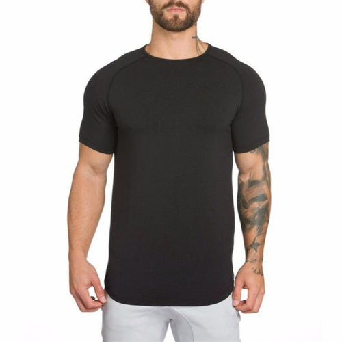 Cotton Short Sleeve Gym Fitness Men's T-Shirt - TUZZUT Qatar Online Store