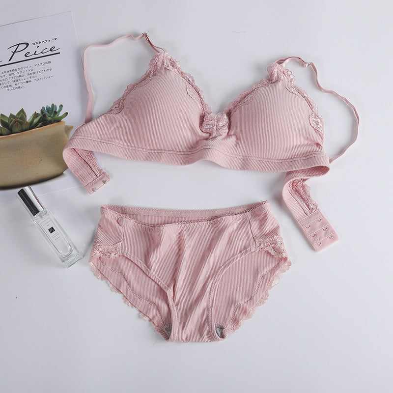 Fashion Adjustable Wireless Push-up Padded Bra Panty Set - TUZZUT Qatar Online Store