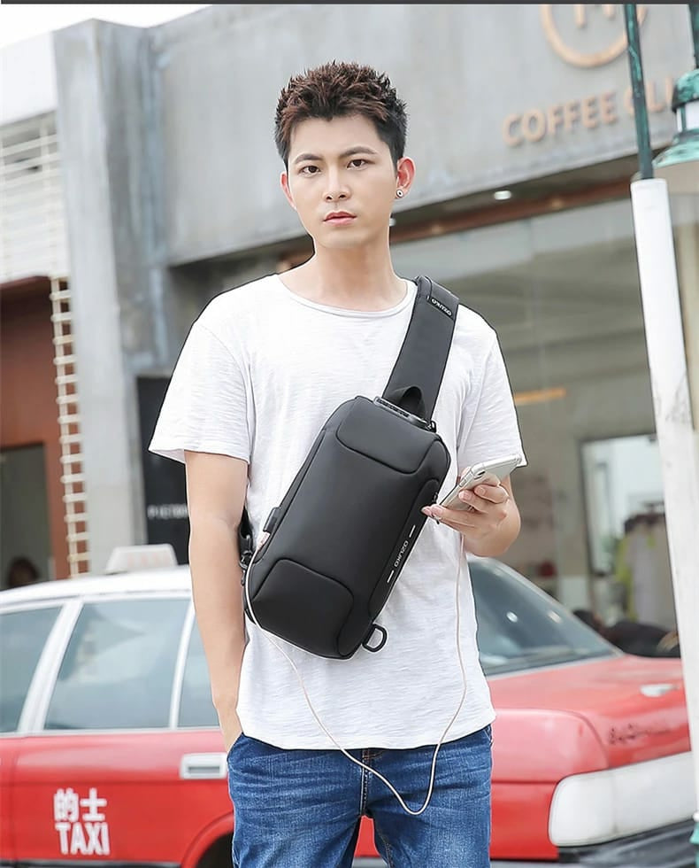 OZUKO Multifunction Anti-theft Shoulder Crossbody Waterproof Messenger Bag - TUZZUT Qatar Online Store