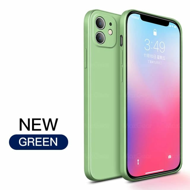 New Luxury Square Liquid Silicone Soft Case For iPhone 11, 11 Pro, 11 Pro Max - TUZZUT Qatar Online Store
