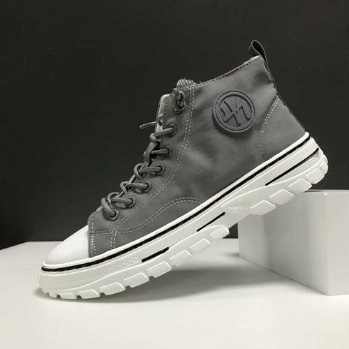Men's High Top Designer Canvas Shoes - TUZZUT Qatar Online Store