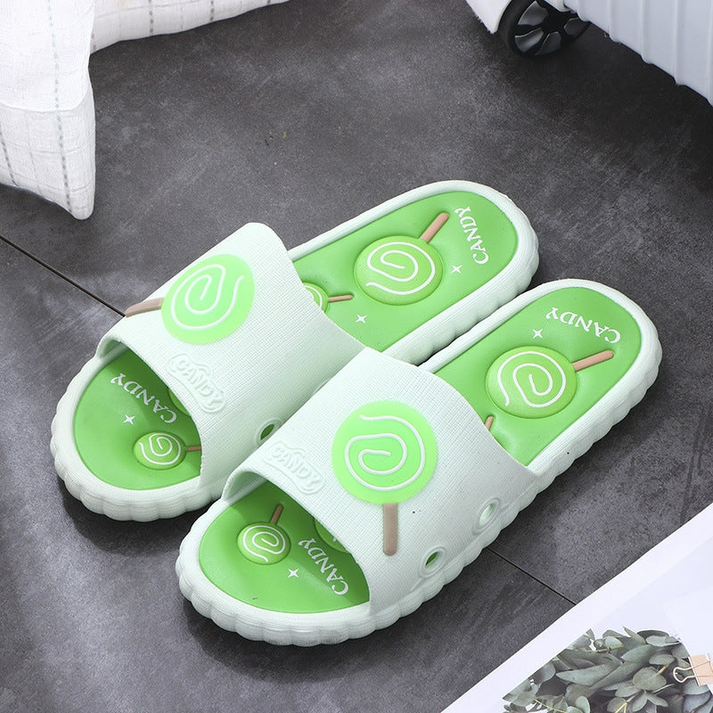 Cute Candy Bathroom Slippers - Couple Flip-Flp Non-slip Slippers - TUZZUT Qatar Online Store