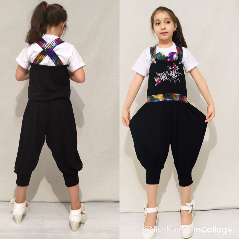 Girl's Fashion Micky Jumpsuit - Black - TUZZUT Qatar Online Store