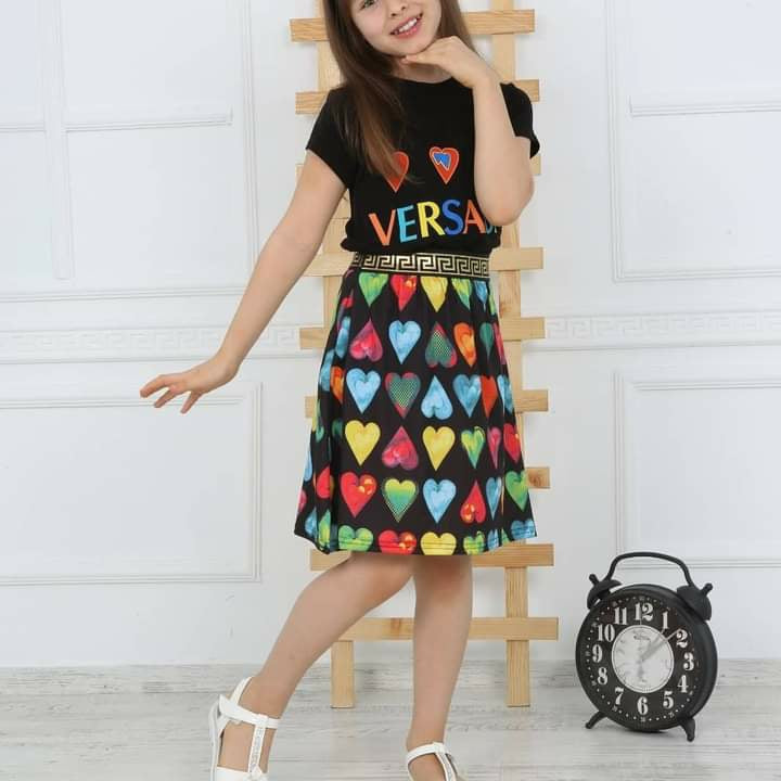 Girl's Top and Skirt Versace - Black TK1510 - TUZZUT Qatar Online Store