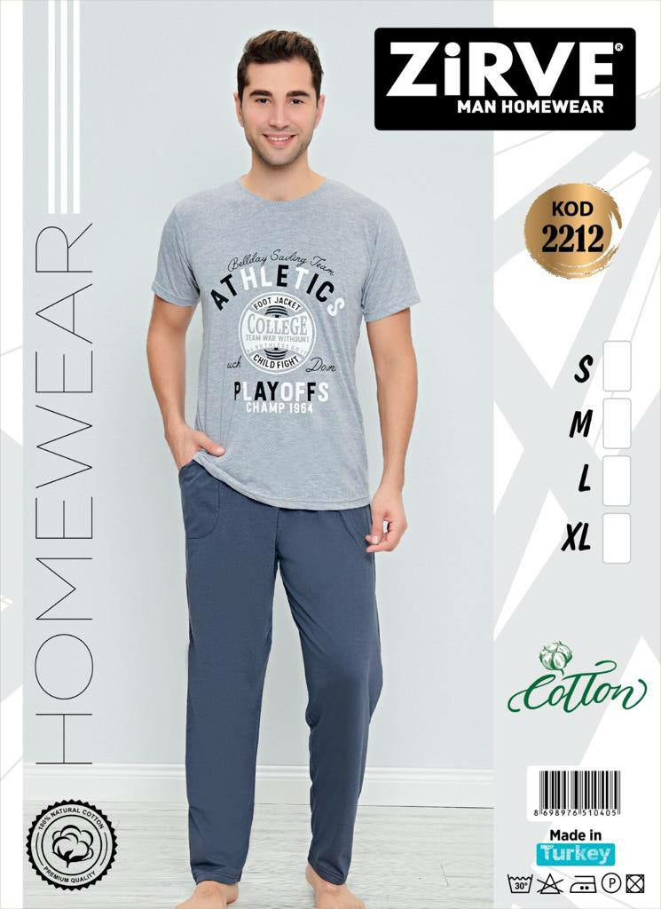Men's Cotton Homewear Set KOD2212 - TUZZUT Qatar Online Store