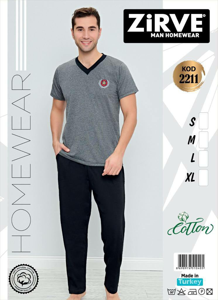 Men's Cotton Homewear Set KOD2211 - TUZZUT Qatar Online Store