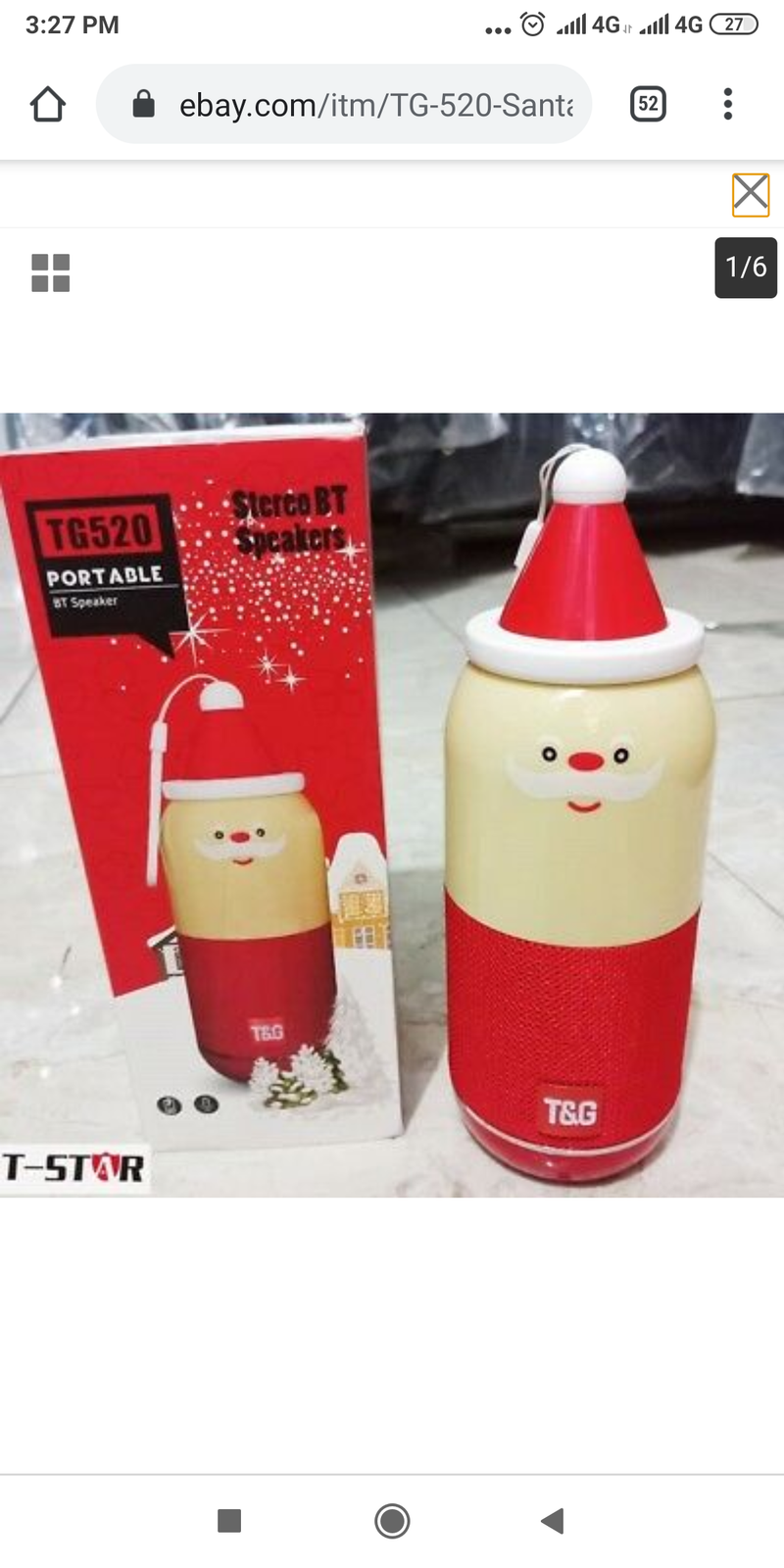 TG520 Portable BT Speaker - Santa Christmas Edition (Bluetooth/ Portable/Rechargeable) - TUZZUT Qatar Online Store