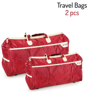 Set Of 2Pcs Travel Bags - Red