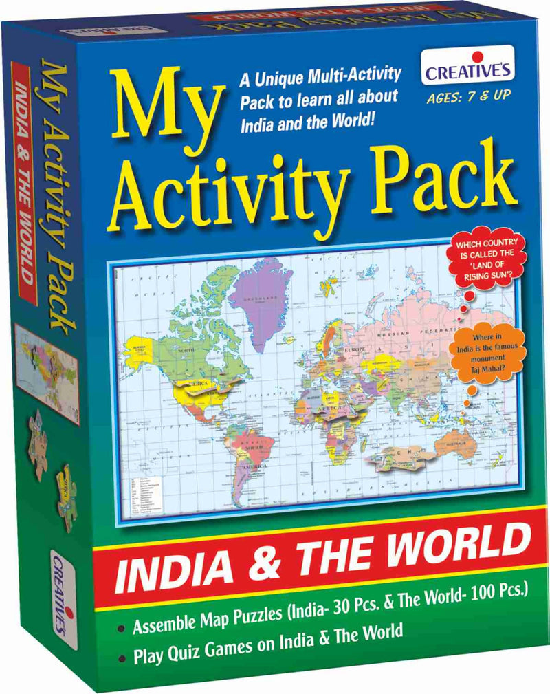 My Activity Pack-India & the World - TUZZUT Qatar Online Store