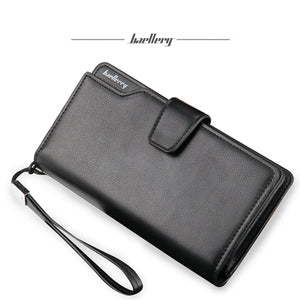 Baellerry Men PU Leather 3 Fold Long Wallet Money Purse Coin Pocket Clutch Hand Bag Card Holder - ZX-AS016-3 - TUZZUT Qatar Online Store