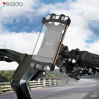 Yesido Bike Phone Holder 360° Rotatable Adjustable  - C66 - TUZZUT Qatar Online Store