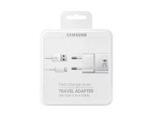 Samsung Original Fast Charger 15W Travel Adapter with USB Type - C Cable - White - TUZZUT Qatar Online Store