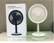 Load image into Gallery viewer, Rechargeable RGB Light Small Desk Fan FS-01 - TUZZUT Qatar Online Store