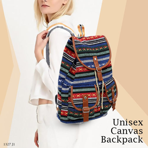 Bling Geometry Unisex Canvas Backpack - 1327 J1 GH-193 - TUZZUT Qatar Online Store