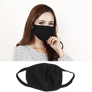 Air Pollution Cotton Face Mask- Anti-Dust, Smoke, Washable and Reusable Travel – Black (1 Pc) - TUZZUT Qatar Online Store