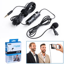 Load image into Gallery viewer, BOYA BY-M1 Omnidirectional Condenser Microphone 20 Feet Audio Cables Compatible with Digital SLR Camcorders Video Cameras/Smartphone Black - TUZZUT Qatar Online Store