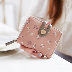 Lovely Multi Functional Women's Flower Card Holder Coin Wallet Purse - OLF-927 - TUZZUT Qatar Online Store