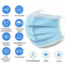 Load image into Gallery viewer, 50 Pcs Disposable Face Masks- 3-Ply Breathable & Comfortable Filter - TUZZUT Qatar Online Store