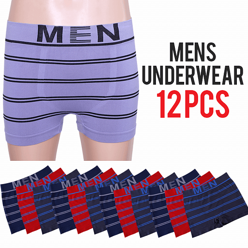 Keli Men New Maximo Comfort Underwear 12 Pcs Set, DB1001, Assorted Color - TUZZUT Qatar Online Store