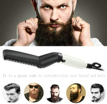 Load image into Gallery viewer, Modelling Comb - Men Beard Straightener and Quick Hair Styler Hair Comb